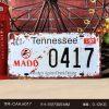 Biển số 15x30cm - Tennessee X-K017