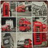 30x30 tin painting plate vintage style