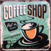 Tranh treo tường 30x30cm Coffee Shop Z33-34