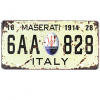 Tranh thiếc biển số xe 15x30cm - Maserati 6AA 828 A-35