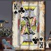 Tranh gỗ lá bài 40x60cm King of Clubs YC46-K Chuồn