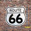 Tranh thiếc hình biển báo đường cao tốc Route 66 ROT-66
