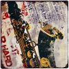 Tranh thiếc 30x30cm Saxophone - Q33-3012